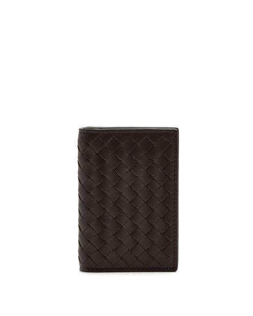 Porte-cartes en cuir intrecciato Bottega Veneta pour homme en coloris Brown