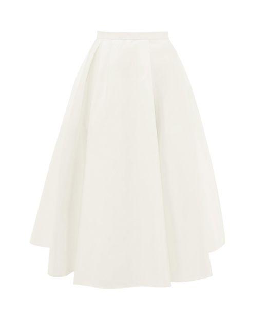 Rochas Aライン サテンスカート Multicolor