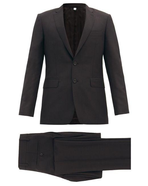 メンズ Burberry ウールモヘア シングルスーツ Black