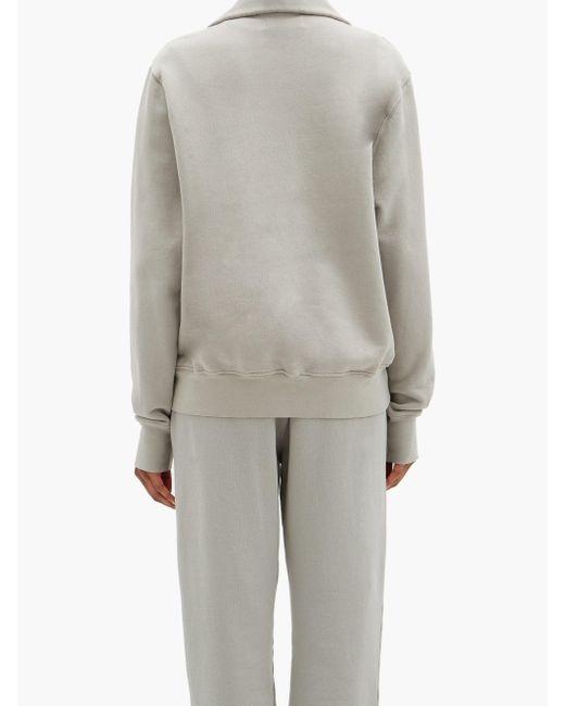 Les Tien ヤット ブラッシュドバックコットン スウェットシャツ Gray