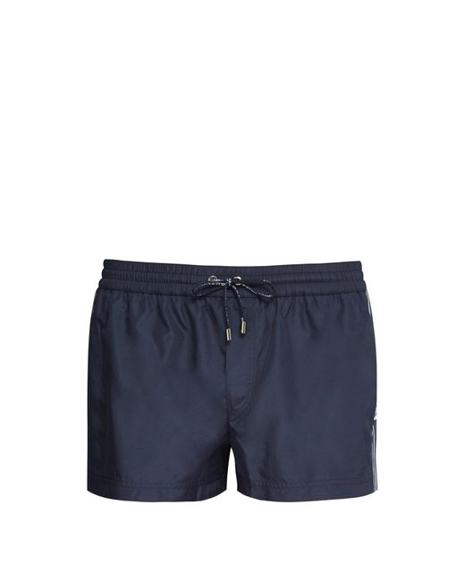 Dolce & Gabbana Blue Side Stripe Swim Shorts for men