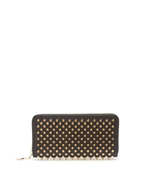 Christian Louboutin - Multicolor Panettone Spike-embellished Leather Wallet - Lyst