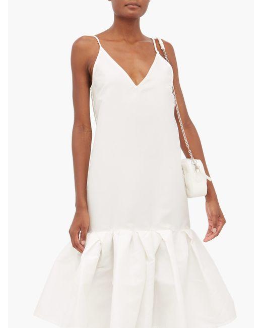 Marques'Almeida ペプラムヘム タフタスリップドレス White