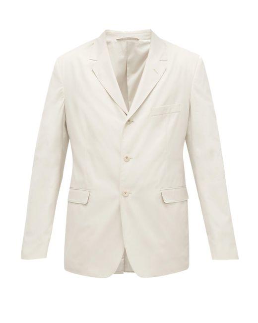 メンズ Lemaire コットンポプリン シングルジャケット Gray