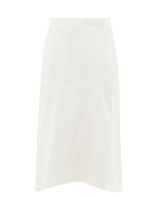 Vivienne Westwood カーブヘム シャルムーズスカート White