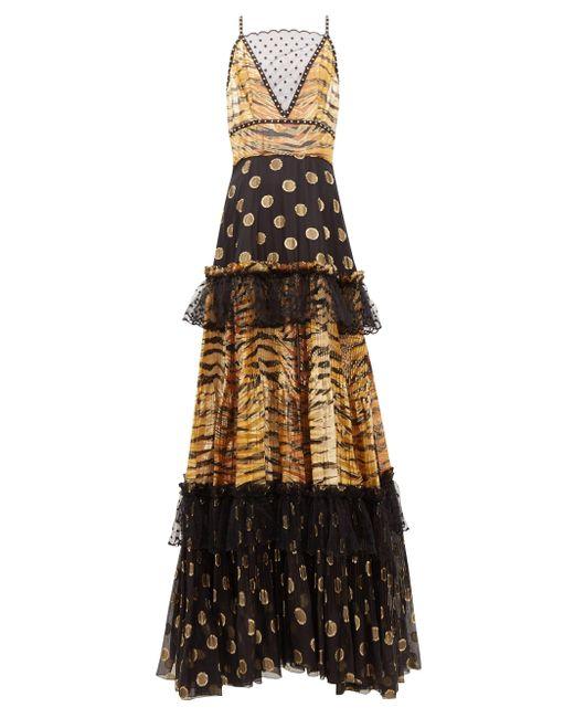 Dundas ゼブラ ポルカドット フィルクーペドレス Multicolor