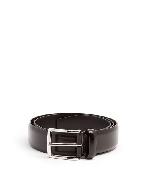 Andersons Black Leather Belt for men