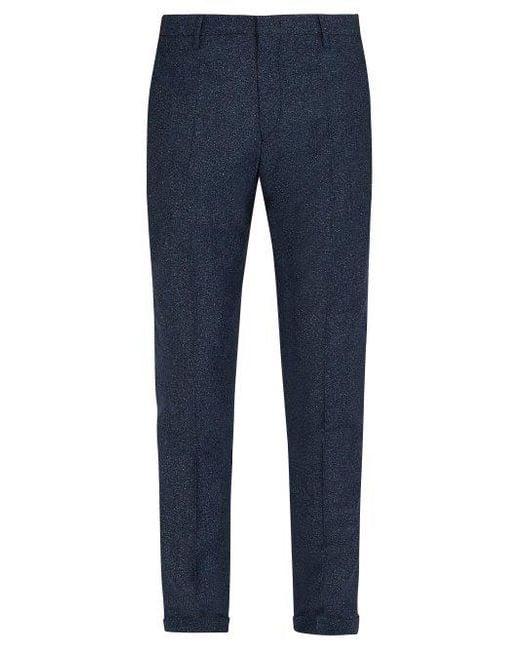 Dark-grey Slim-fit Mélange Wool And Silk-blend Suit Trousers Paul Smith iKcDhJmZP