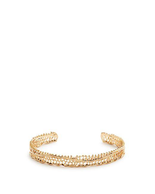 Aurelie Bidermann - Metallic Lace Yellow Gold Cuff - Lyst