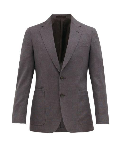 メンズ Paul Smith スリムフィット バージンウールジャケット Gray
