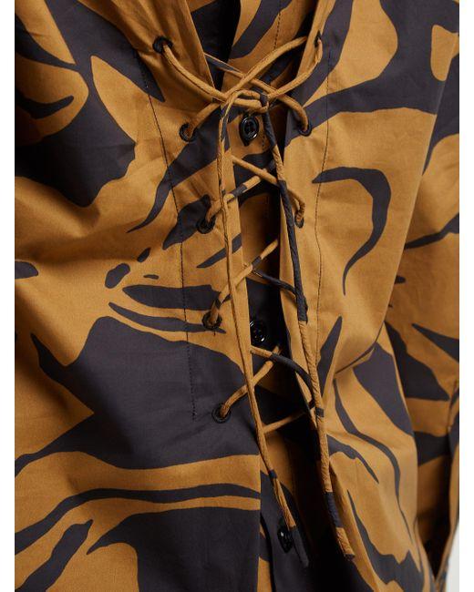 Chemise en coton à lacets et imprimé camouflage Colville en coloris Multicolor