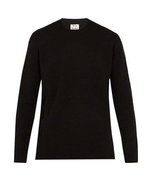 Acne | Black Nicha Wool-blend Sweater for Men | Lyst