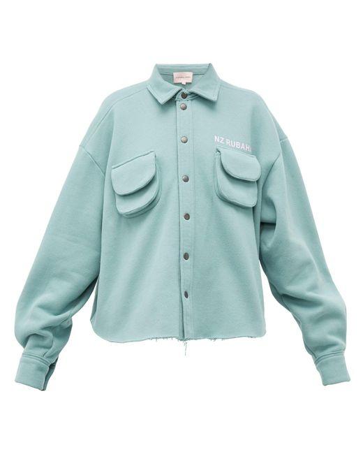 Natasha Zinko カーゴポケット コットンブレンドジャージー シャツ Multicolor