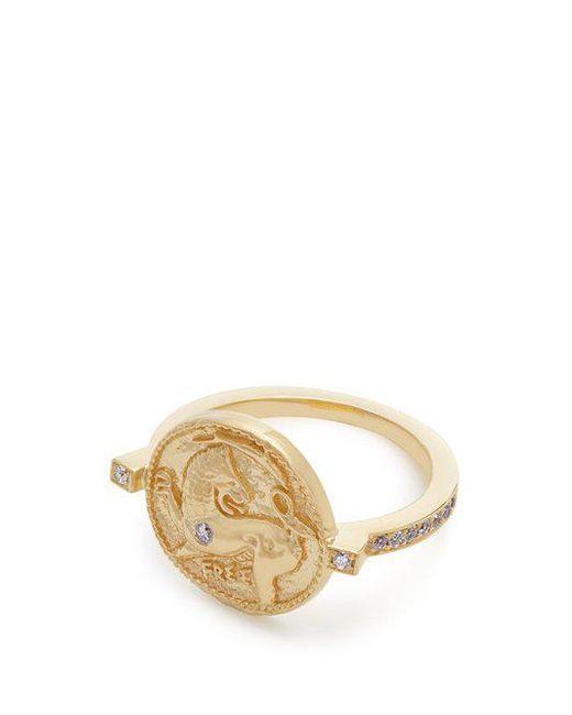 Azlee Animal Kingdom diamond & yellow-gold ring 6RLhmeQ