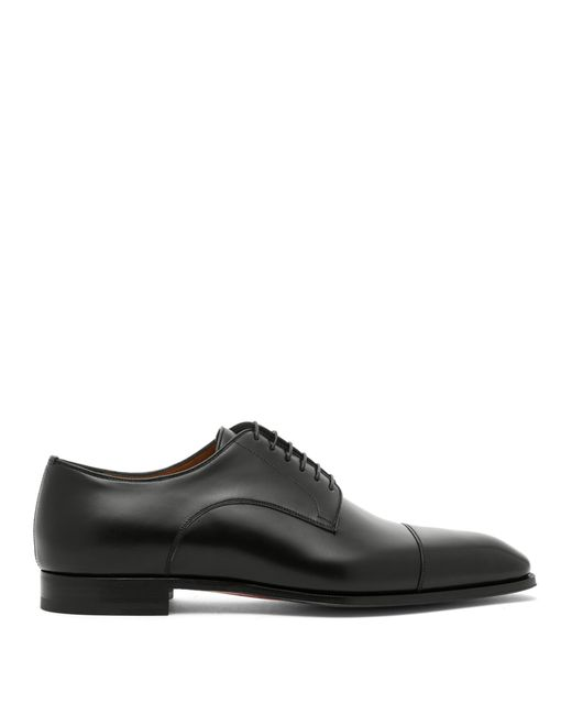 44f22a16efd Christian Louboutin - Black Cousin Leather Derby Shoes for Men - Lyst ...
