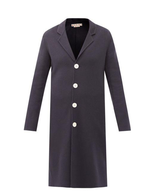 Marni ウールブレンド シングルコート Blue