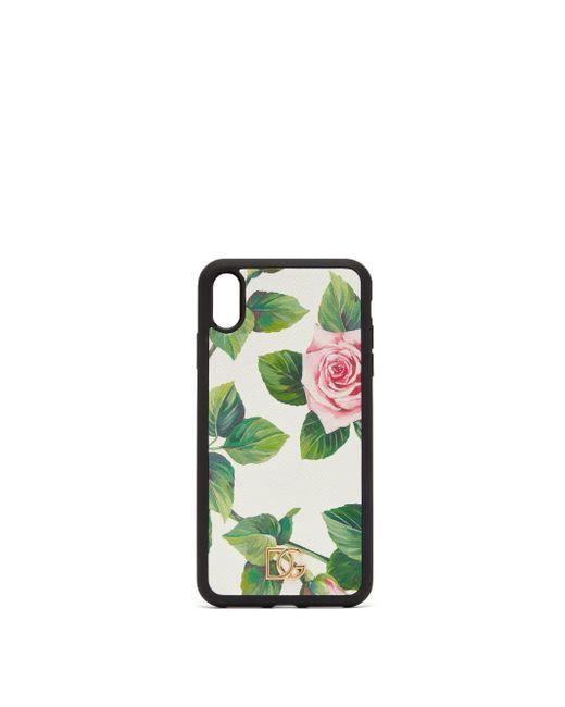 Dolce & Gabbana ローズドーフィンレザー Iphone Xs Max ケース Black