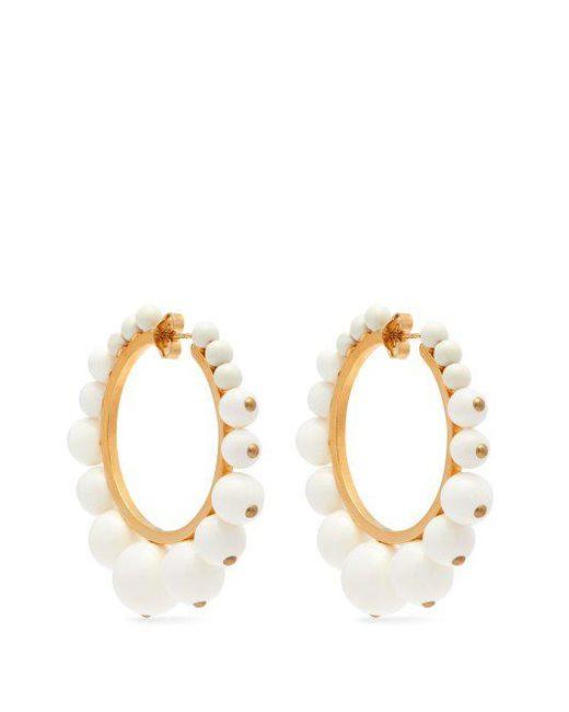 Ana bead-embellished hoop earrings Aur NeGrTU