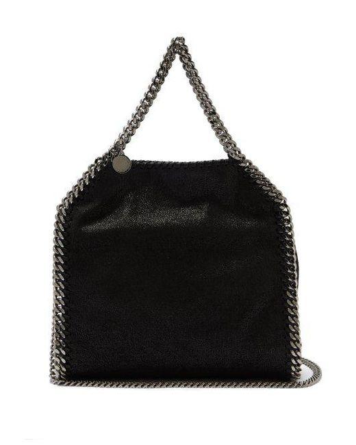 18e0599e57 Stella McCartney - Black Falabella Mini Faux-suede Cross-body Bag - Lyst