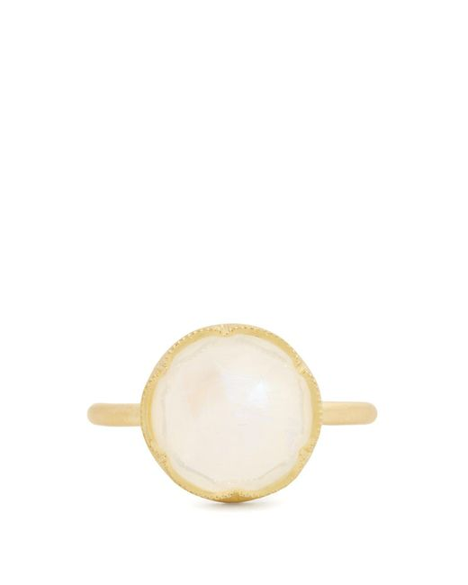 Irene Neuwirth - Metallic Rainbow Moonstone & Yellow Gold Ring - Lyst