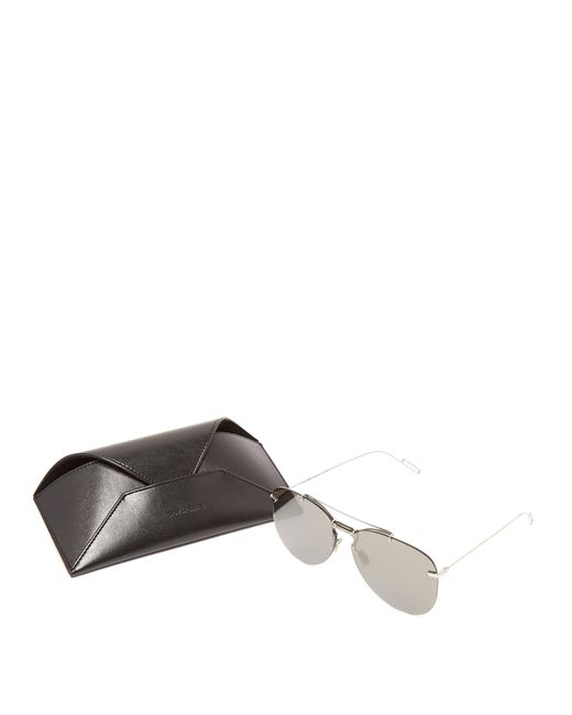 bd155f6e624 ... Dior Homme - Metallic Aviator Frame Metal Sunglasses for Men - Lyst ...