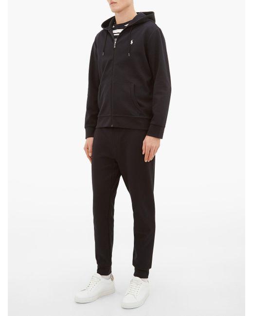 メンズ Polo Ralph Lauren ジップアップ コットンブレンド スウェットパーカー Black