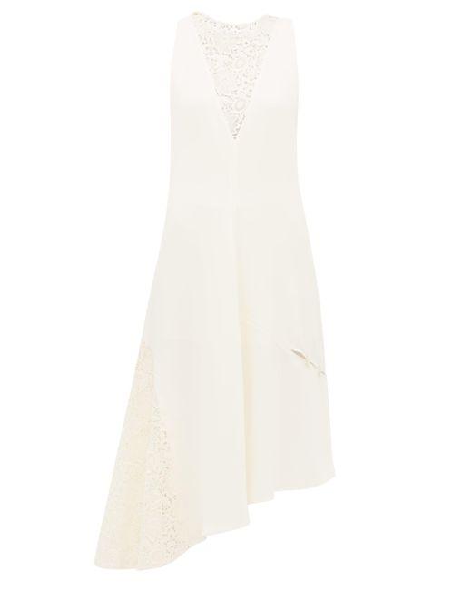 Tibi ギピュールレース クレープドレス Multicolor