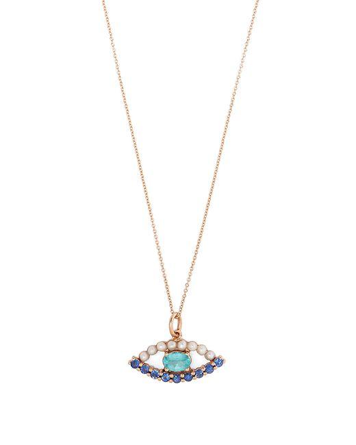 Ileana Makri | Metallic Sapphire, Apatite, Pearl & Rose-gold Necklace | Lyst