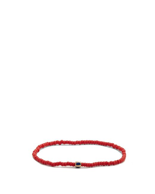 Luis Morais - Red Bead, Enamel And Yellow-gold Bracelet for Men - Lyst