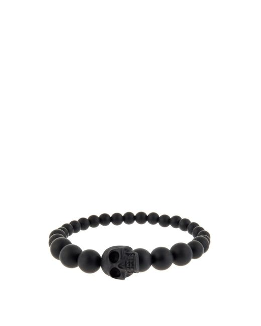 Alexander McQueen - Black Studded Double-wrap Leather Bracelet for Men - Lyst