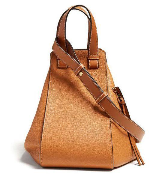 Hammock medium grained-leather bag Loewe qEHNYnucp