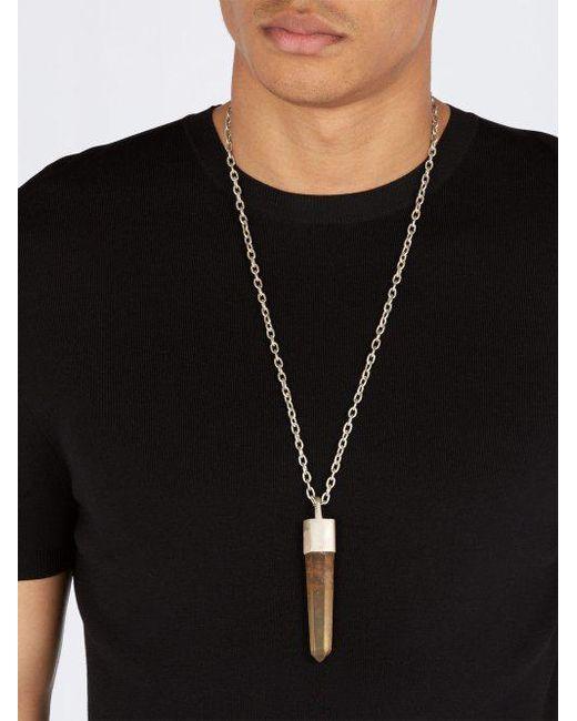 Talisman citrine-pendant silver necklace Parts Of Four uugrOq0j