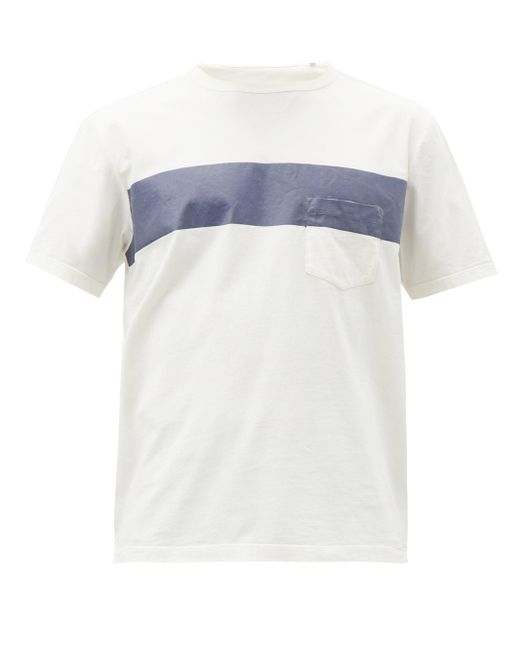 メンズ Albam ストライプ コットンtシャツ Multicolor