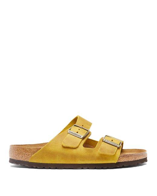 メンズ Birkenstock アリゾナ オイルレザーサンダル Yellow