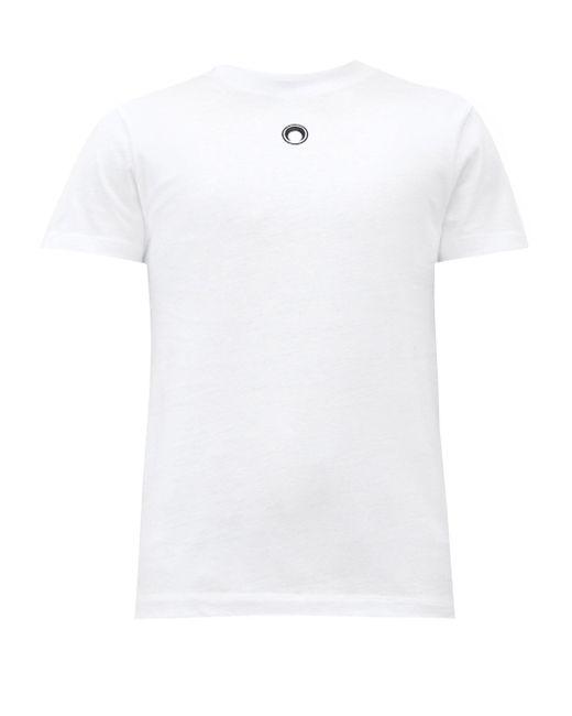 メンズ MARINE SERRE クレセントムーン コットンtシャツ White