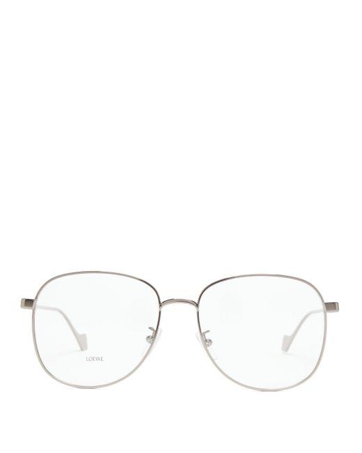 Loewe アビエイター メタルメガネ Gray