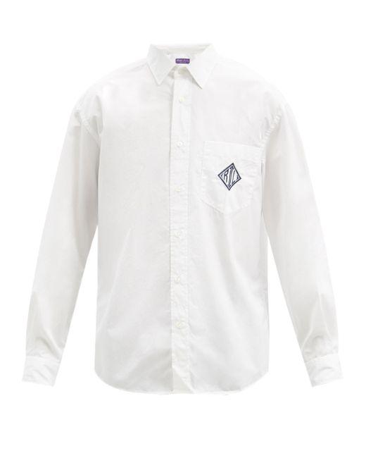 メンズ Ralph Lauren Purple Label フィリップ コットンポプリンシャツ White