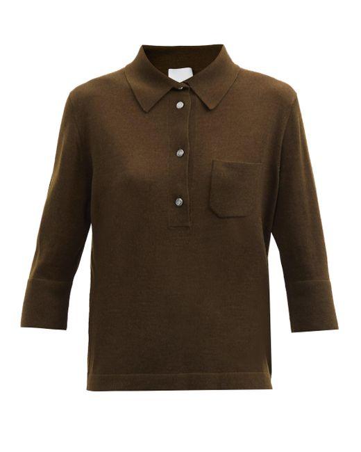 Allude クロップドスリーブ ウールブレンド セーター Multicolor