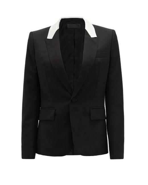 Haider Ackermann コントラストパネル ウールシングルジャケット Black