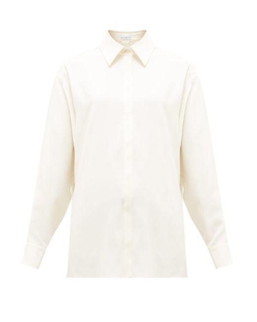 Raey オーバーサイズ シルクシャツ White