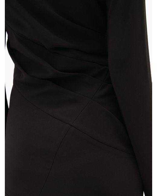 Proenza Schouler アシンメトリードレープ クレープドレス Black