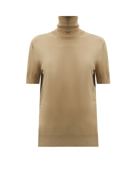 Dolce & Gabbana タートルネック ショートスリーブウールセーター Multicolor