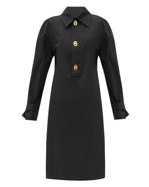 Bottega Veneta ハーフプラケット コーティングキャンバス ドレス Black