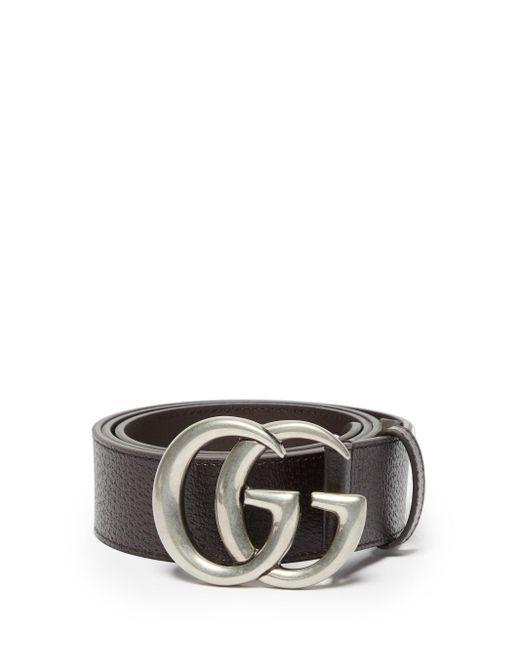 Ceinture en cuir GG Gucci pour homme en coloris Brown