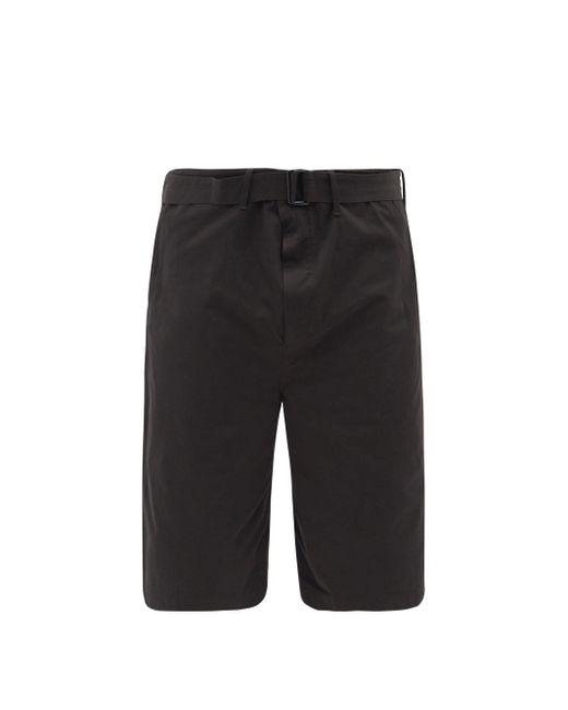 メンズ Lemaire ベルテッド コットンキャンバス ショートパンツ Black