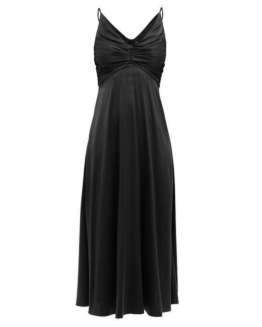 Zimmermann ギャザー シルクブレンドドレス Black