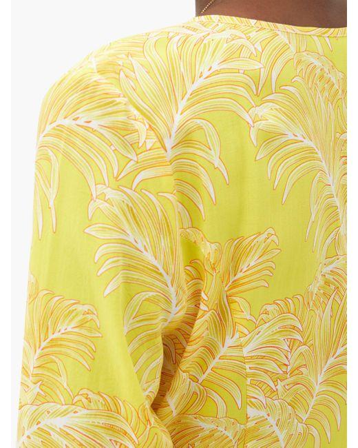 Melissa Odabash シェリル リーフ マキシラップドレス Yellow