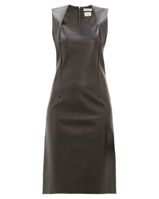 Bottega Veneta スクエアネック レザードレス Black