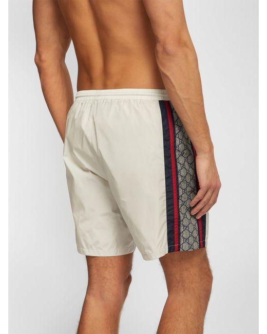 67ed024f92 ... Gucci - Multicolor Gg Tape Swim Shorts for Men - Lyst ...
