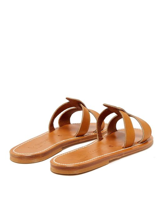 39a4a3300 K. Jacques Thanos Leather Slides in Brown - Save 34% - Lyst